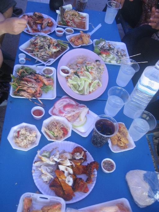 Food at Bang San beach